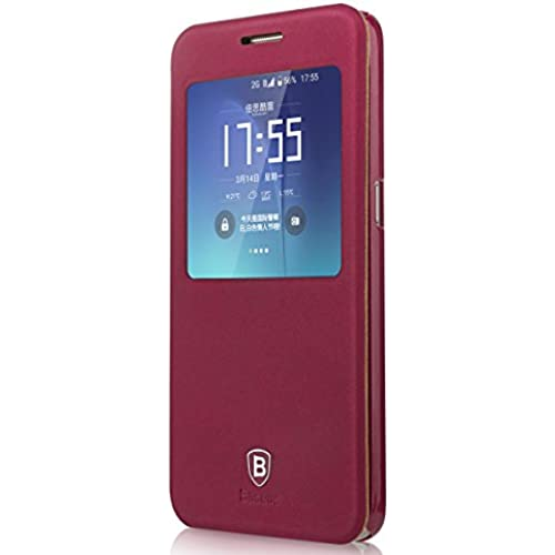 Neo Generation Baseus Samsung Galaxy S7 G9300 and Galaxy S7 Edge Flip Case (Galaxy S7 Edge - Red) Sales