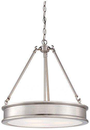Minka Lavery 4173-84 3 Light Pendant, Brushed Nickel Finish
