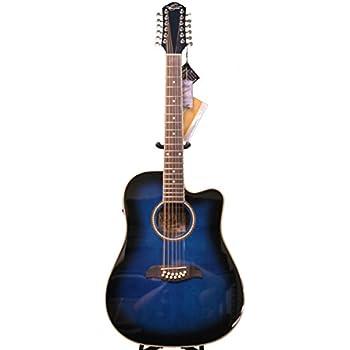 oscar schmidt by washburn 12 string acoustic electric guitar od312cettbl trans. Black Bedroom Furniture Sets. Home Design Ideas