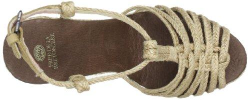 Fred de la Bretoniere 311001 - Zapatos de pulsera de lona para mujer Beige (Beige (Naturale))