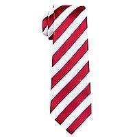 Hi-Tie Mens Striped Tie Cufflink Hanky Set Silk Classic