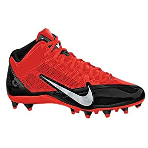 Nike Mens Alpha Pro 3/4 TD Football Cleats Black/Red 579636-006 Size 9