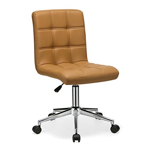 aux Leather Executive Task Chairs with Caster Wheels - Includes Modhaus Living Pen (Brown) (Benches Occasional Chair)