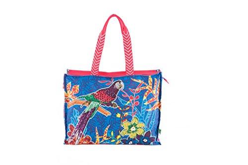 PE Florence Borsa da spiaggia/Shopper Tropical Parrot (6331001) Nuovo