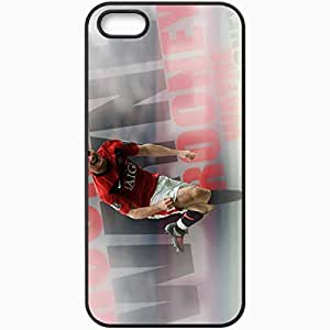 Personalized iPhone 5 5S Cell phone Case/Cover Skin 2013 wayne rooney Black