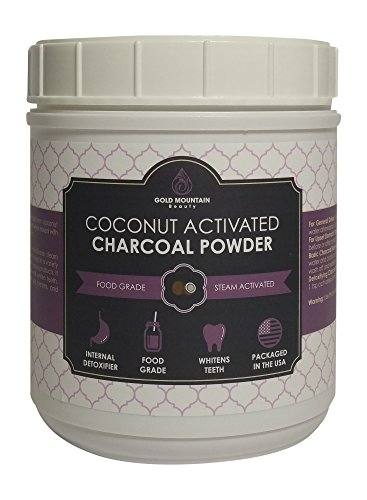 Coconut Activated Charcoal Powder, Detoxifies Better Than Hardwood. A Premium Food Grade with Neutral pH, High Adsorption Capacity, and Efficiency (8 oz) by Gold Mountain Beauty