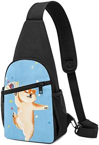 ボディバッグ ワンショルダー 斜めがけバッグ 柴犬顔 プリント ワンショルダーバッグ ボディーバッグ メンズ レディース 軽量 大容量 通勤通学旅行