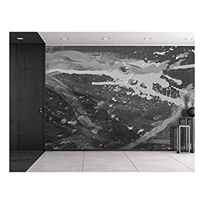 Splatter Paint in Grayscale Wall Mural, it is good, Dazzling Visual