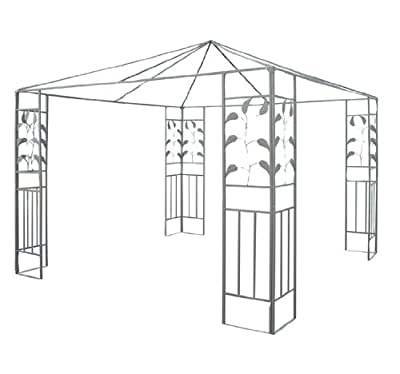 Outsunny 10' x 10' Steel Outdoor Patio Canopy Gazebo Frame - Leaf Design