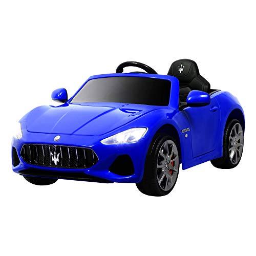 Uenjoy Maserati Grancabrio 12V Electric Kids Ride On Cars Motorized Vehicles W/Remote Control, Suspension, Mp3 Player, Light, Blue