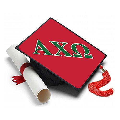 Alpha Chi Omega Graduation Cap Hat Topper Decoration Sorority AXO Red