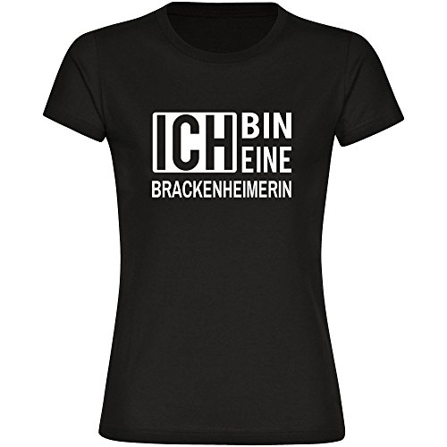 Multifanshop T-Shirt Ich Bin Eine Brackenheimerin Schwarz Damen Gr. S bis 2XL