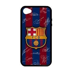 Wishing RAROFU New Style FC Barcelona Custom Case for iPhone 4,4S (Laser Technology)