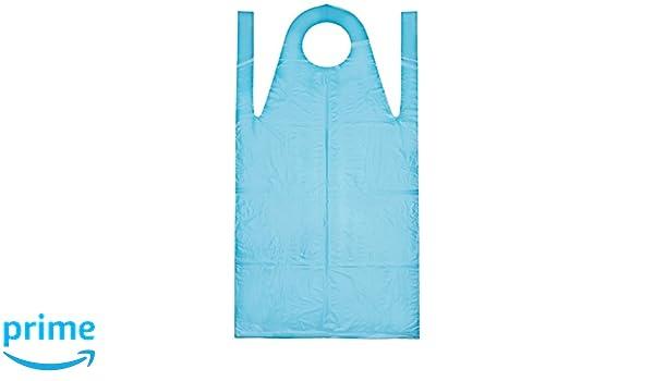 Meditrade 3591 - Delantales desechables (polietileno, 50 micrones, 140 x 75 cm, 50 unidades), color azul: Amazon.es: Industria, empresas y ciencia