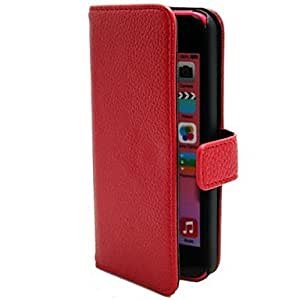 GJYLitchi Pattern Multi Card Slot Folding PU PC Material Leather Sheath for iPhone 5C (Assorted Colors) , White