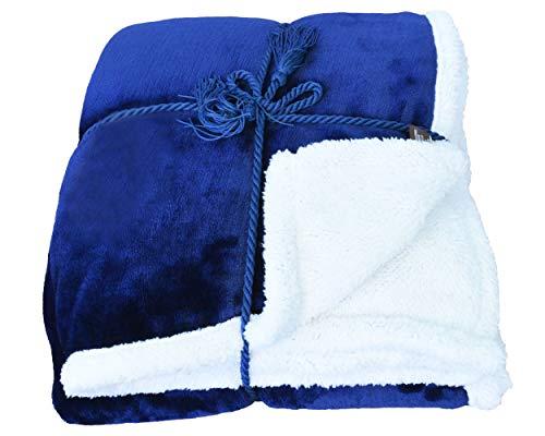 Sherpa Throw Blanket Blue 50