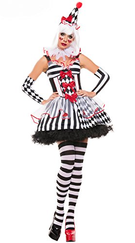 Women Colwn costume circus sexy fancy ball dress 7081-82 (Free Szie, Red&Black)