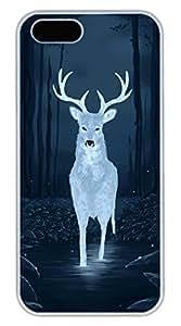 Luminous Elk Hard Case Cover iPhone 5S 5 Polycarbonate White