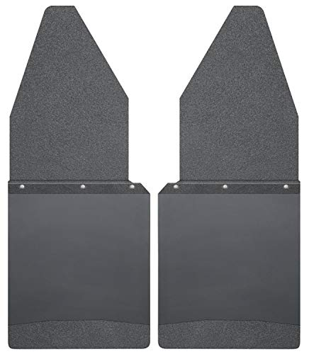 (Husky Liners Kick Back Mud Flaps 12IN Wide - Black Top/Wt Fits 88-18 F150/250 )