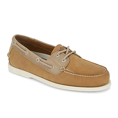 (Dockers Mens Vargas Leather Casual Classic Boat Shoe, Tan, 11 M)
