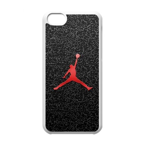 R7V21 Jordanie logo cas de téléphone K4T1GH coque iPhone 5c cellulaire couvercle coque blanche WW6HUQ6SN