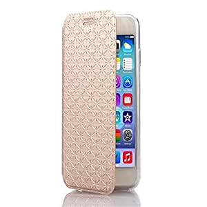MOM ships in 48 hours Diamond Pattern TPU and PU Leather Full Body Case with Stand for iPhone 6(Assorted Colors) , Purple