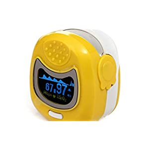 Contec CMS50QB Yellow OLED Kids Fingertip Pulse Oximeter