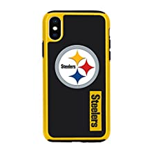 """Forever Collectibles iPhone XS/X 5.8"""" Screen Only Dual Hybrid Impact Licensed Case - NFL Pittsburgh Steelers"""