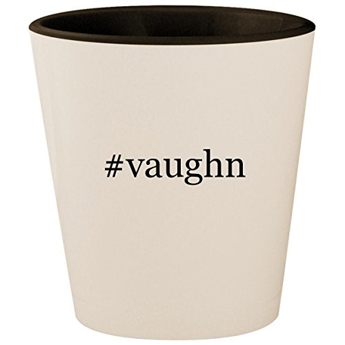 #vaughn - Hashtag White Outer & Black Inner Ceramic 1.5oz Shot Glass