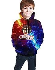 Boys Girl Lazerbeam Hoodies Novelty 3D Print Hooded Sweatshirts