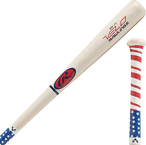 Rawlings Y62AV Youth Velo Ash -7.5 with Ultra Thin Tac Grip Wood Bat, 30