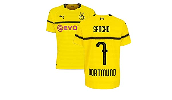cheaper b9cd0 e5de8 Jadon Sancho 7 2018-19 Borussia Dortmund Home UCL Football ...