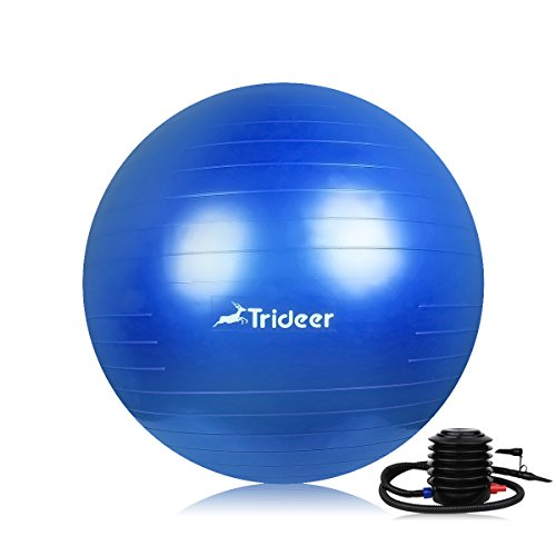 Trideer Yoga Ball, Exercise Ball, Anti-Burst & Extra Thick, Heavy Duty Pilates...