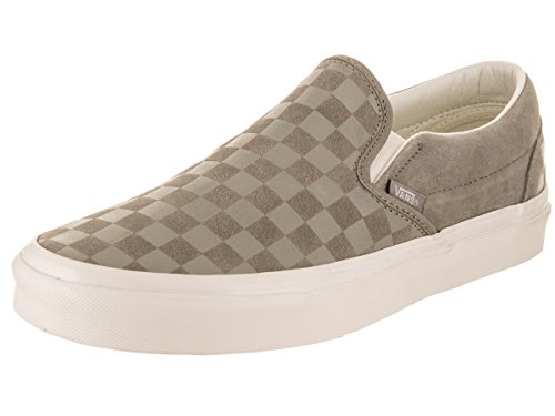 Vans Classic Slip-On (Checker Emboss) Fashion Sneakers Fallen Rock/Blanc de Blanc Size 9.5 Men/11 Women by VANS