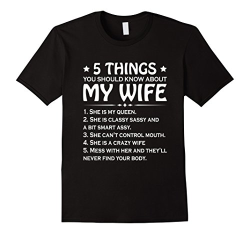 5 Things You Should Know About My Wife T Shirt