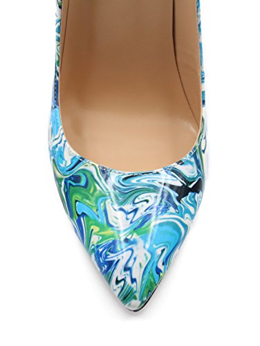 Aiguille A Grande Chaussures Femmes Taille Ubeauty Talon Multicolore Stilettos Escarpins Talons Femme PYZFqX