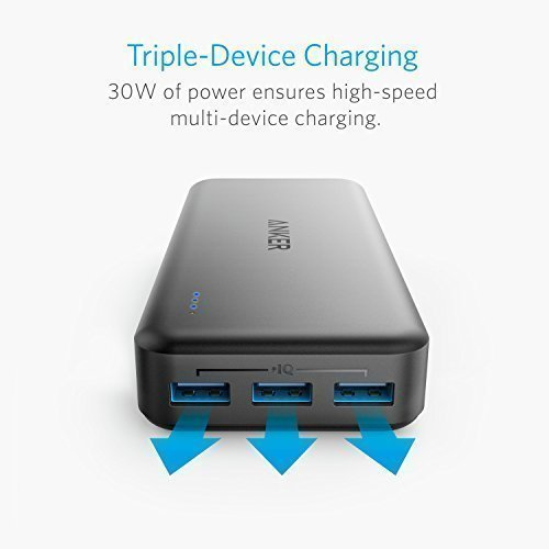 lightweight Charger Anker PowerCore Elite 20000 20000mah power Bank along with 3 Port 6A expenditure parallel key in and 4A rapid Recharging External Battery Packs
