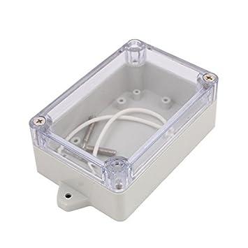 eDealMax 100x68x40mm cubierta transparente a prueba de agua caja de conexiones Caja de terminales del recinto