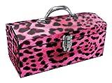 Sainty Art Works Toolbox Best Deals - Sainty Art Works 24-033 Art Deco Leopard Tool Box, Pink