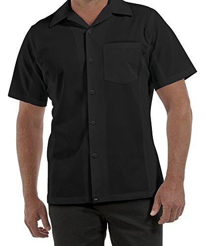 - ChefUniforms.com Men's Kitchen Shirt with Mesh Sides (XS-5X, 2 Colors) (X-Large, Black)