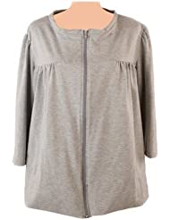 Post-op Top Zipper Front Long Sleeve Shirt