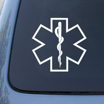 Star of Life - Medical - Car, Truck, Notebook, Vinyl Decal Sticker #2639 | Vinyl Color: (Star Decals For Cars)