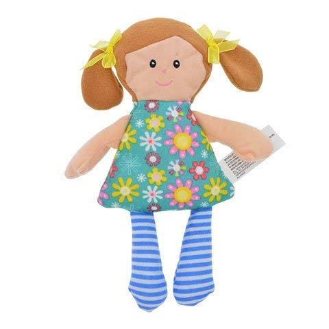 edbfe54d26 Amazon.com  2 Cute Kids Stuffed Plush Rag Dolls 10 in. Play Toy for Young  Girls Children and baby s. (Style Varies)  Toys   Games
