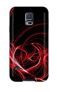 Tpu Shockproof Dirt Proof Abstract Red Cover Case For Galaxy S5