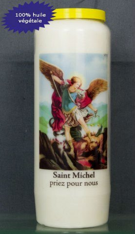 Bougie Neuvaine Saint Michel contre les entités négatives