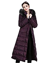 Ilishop Women's Thickened Winter Coat Maxi Down Jackets with Hood