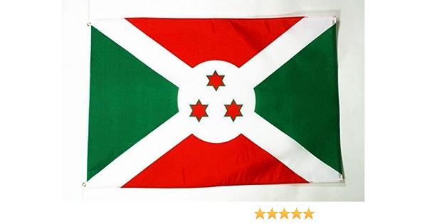 AZ FLAG Bandera de Burundi 90x60cm - Bandera BURUNDÉSA 60 x 90 cm: Amazon.es: Jardín