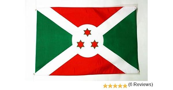 AZ FLAG Bandera de Burundi 150x90cm - Bandera BURUNDÉSA 90 x 150 cm: Amazon.es: Jardín