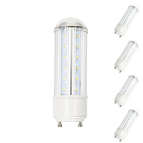 Bonlux 8W LED GU24 Base PL Light 120V 2-Pin GU24 LED Tubular Bulb Warm White 75W Replacement Bulb for Pendants, Table Lamps, Accent Lighting, Down Lighting (Pack of 4) - 2 Lite Pendant