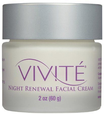 Vivite Night Renewal Facial Cream, 2 Ounce